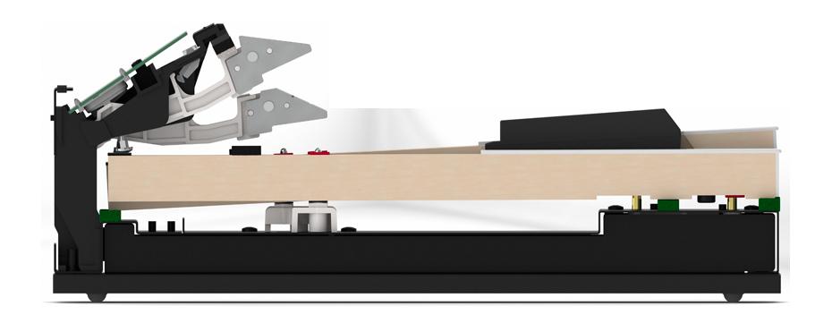 グランドピアノの弾き応え<br /> シーソー式木製鍵盤<br /> グランド・フィール・アクションⅡ