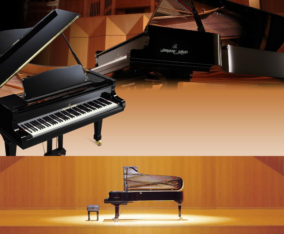 最高峰のコンサートグランドピアノ「SK‐EX」を含む3種類のグランドピアノ音を搭載