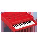 ミニピアノP-25(ローズレッド) 1107