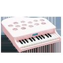 ミニピアノP-25(ピンキッシュホワイト) 1108