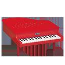 ミニピアノP-32(赤) 1115