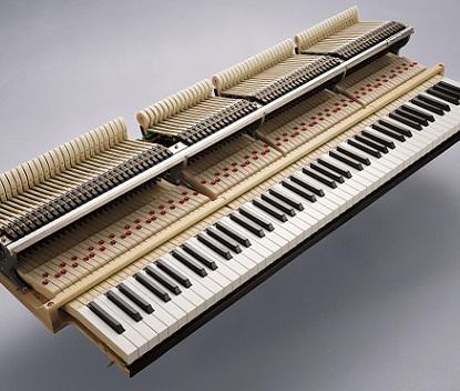 コンサートピアノのタッチ感へ。<br /> 鍵盤長の延長