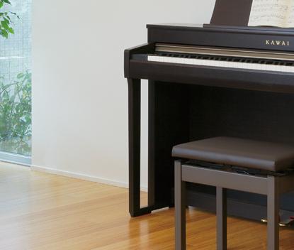ピアノらしさを踏襲しつつも<br /> スリムな外観