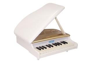 ミニグランドピアノ ホワイト 新発売