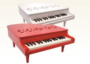 ミニピアノP-32(ホワイト/レッド) 新発売