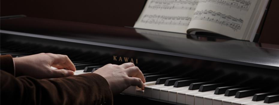 グランドピアノを思わせるデザイン