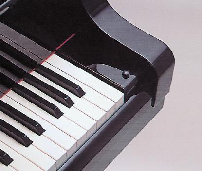 タッチにこだわった鍵盤