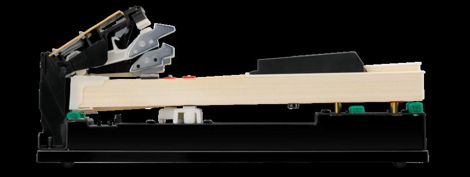 木製鍵盤をもっと身近に<br /> シーソー式木製鍵盤<br /> グランド・フィール・スタンダード・アクション