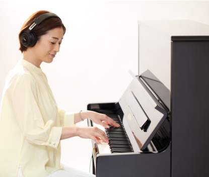 一人でじっくりと、<br /> ピアノに向き合いたい夜にも
