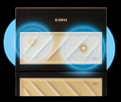 深い響きを再現する<br /> TWIN DRIVE 響板スピーカー