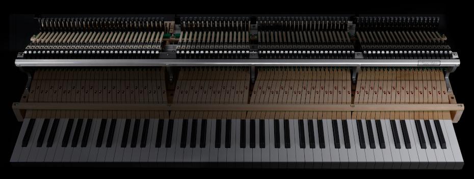 グランドピアノの演奏フィーリング