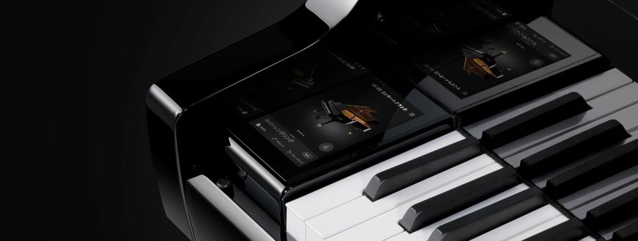 ピアノ演奏に集中できるデザインと直感操作<br /> カラー液晶タッチパネル